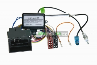 VW Caddy, Golf, Passat, Polo, Tiguan, Touran atd. - ISO adaptér + CAN-Bus modul